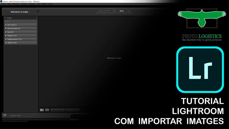tutorial Light room importar